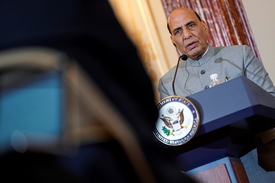 Working on greater collaboration in defence sector with US: Rajnath Singh