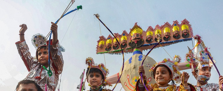 Festive fervor prevails as schools celebrate Dasehra