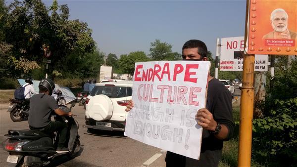 Members of Valmiki community protest rape of Hathras victim, block Chandigarh-Ambala highway