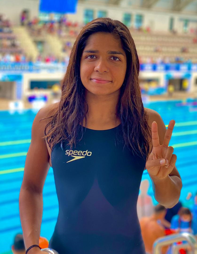 Stuck in Thailand, Chahat swims to glory