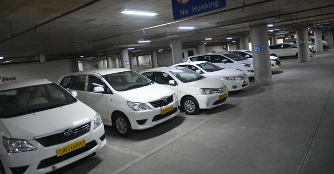 Rs 48-cr multi-level parking lot in Sector 17, Chandigarh, turns 'free taxi stand'