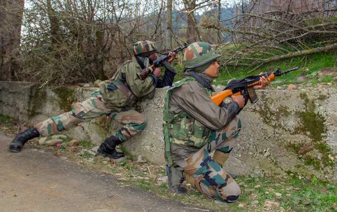 Four militants killed in 2 J&K encounters