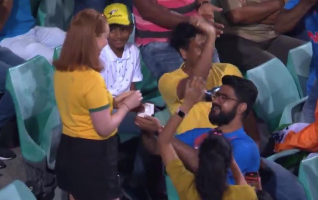 Watch: Indian fan's marriage proposal to his Australian partner during Sydney ODI wins hearts