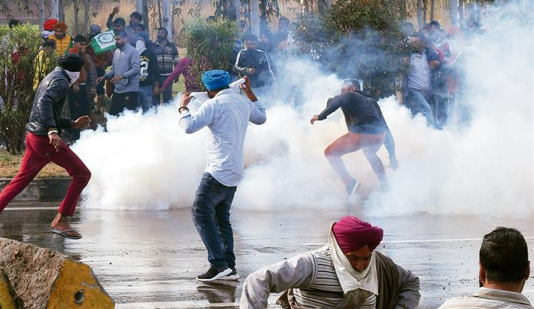 Expired tear gas shells used in Haryana to disperse Punjab farmers