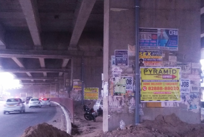 Defacement of Kharar flyover goes unchecked