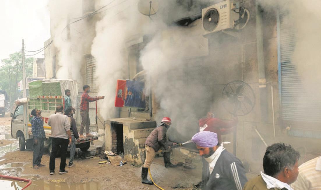 Fire at Patiala shoe godown