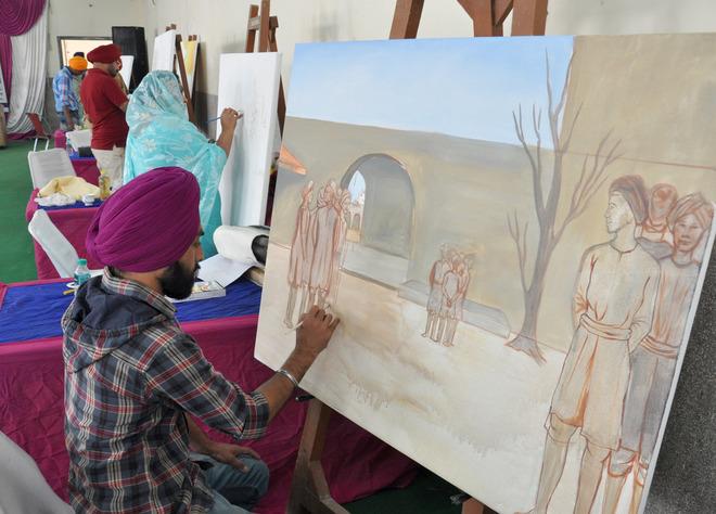 Artworks of 31 painters on display at SGPC workshop