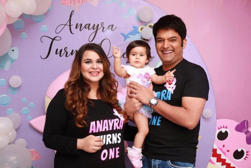 Kapil Sharma, wife Gini Chatrath celebrate daughter Anayra's first birthday; pictures inside