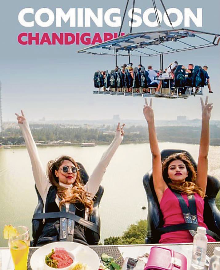 Foodies, get ready to dine mid-air in Chandigarh