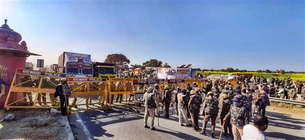 Farmers block Jaipur-Delhi highway in Rajasthan's Alwar