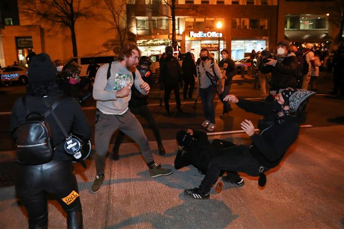 Pro-Trump protests decry President's election loss; opposing groups clash in Washington