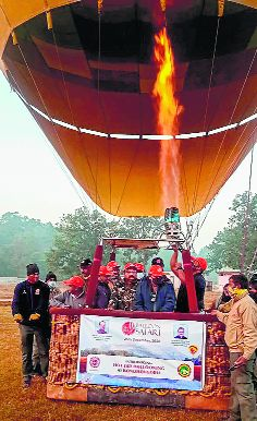 India's 1st tiger reserve hot air balloon safari in MP