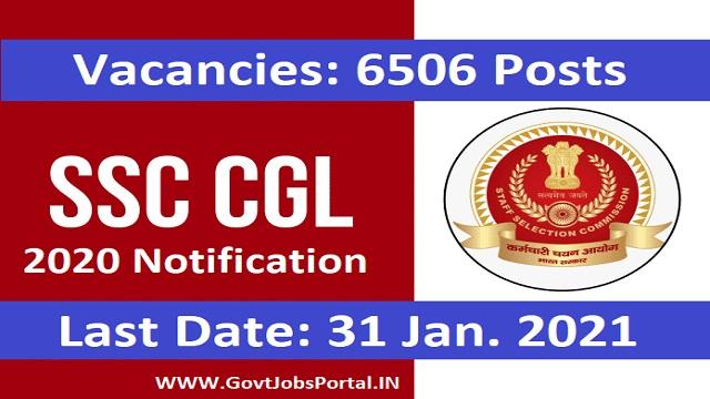 SSC CGL 2020 Exam Notification