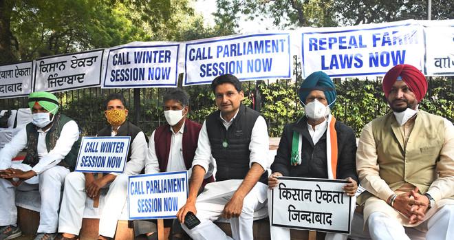 Congress MPs from Punjab continue sit-in at Delhi's Jantar Mantar