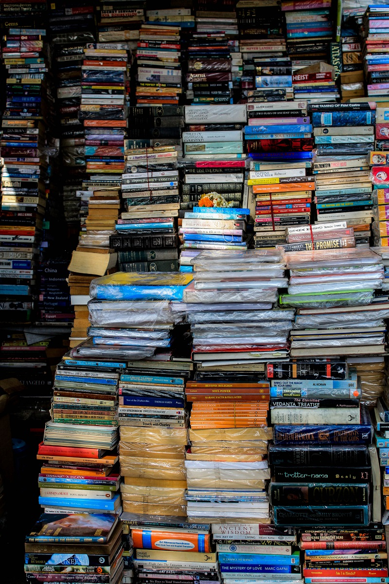 After essentials, people donate books for protesters