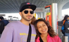 Neha Kakkar not pregnant? Spotted with Rohanpreet Singh at Mumbai airport without baby bump
