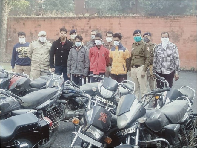 Six thieves land in police net, 40 two-wheelers recovered