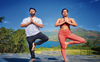 Ishita Dutta,Vatsal Sheth sweat it out with yoga