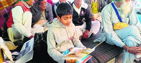 At Tikri border, trailers turn study rooms