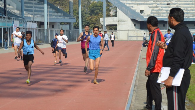Aspirants slug it out on second day of SAI centre sports trials