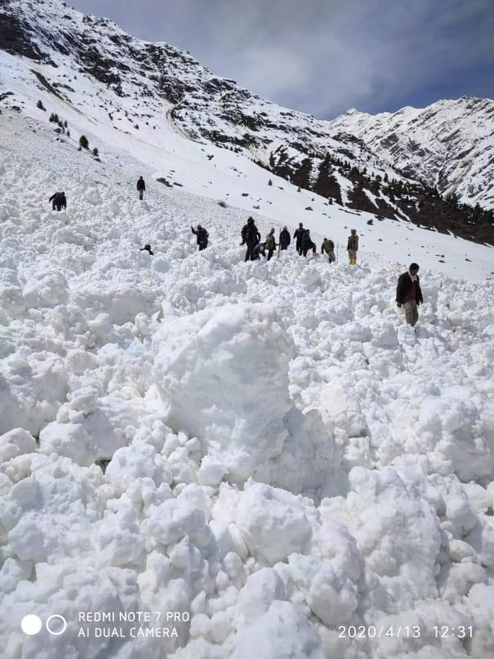 Man trapped under snow avalanche at Bargul village in Lahaul Spiti