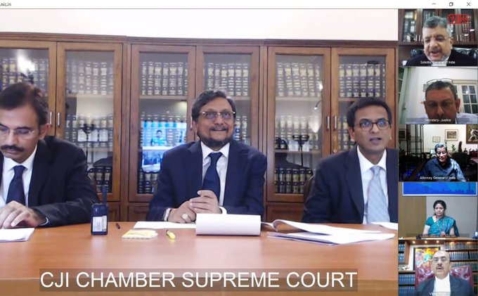 SC issues guidelines for hearings through video-conferencing across courts during Covid-19 pandemic