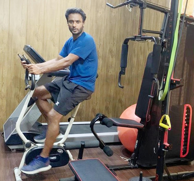 Former international cricketer focuses on achieving his fitness goals