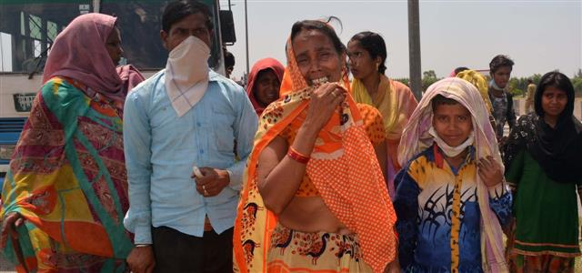 Labourers shuttled back to Punjab from UP border, feel 'don't belong to this country'