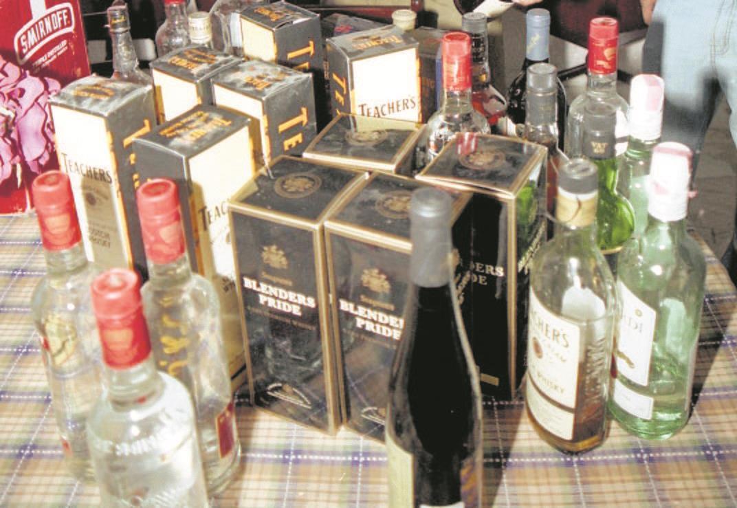 Police crackdown on illicit liquor trade