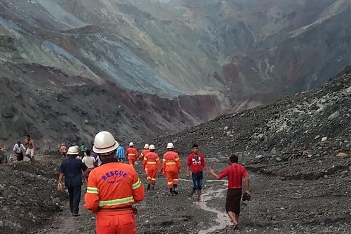 Landslide at Myanmar jade mine kills at least 123 people