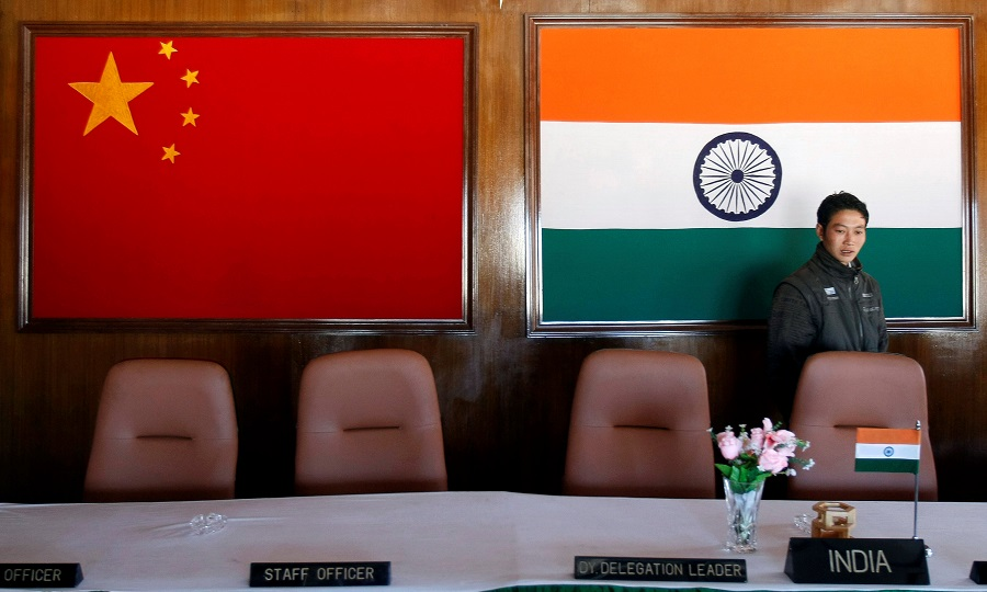 In negotiations with India to lower temperatures through military and diplomatic channels: China