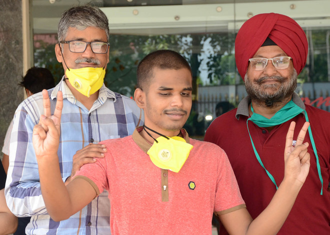 Leading light: Visually impaired proves his mettle with 98.2%