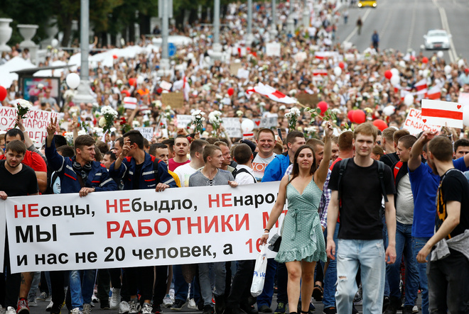 To assuage public anger, Belarus frees detainees