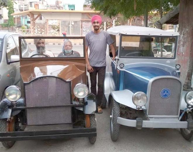 Amritsar-based mechanic turns e-rickshaw into vintage car
