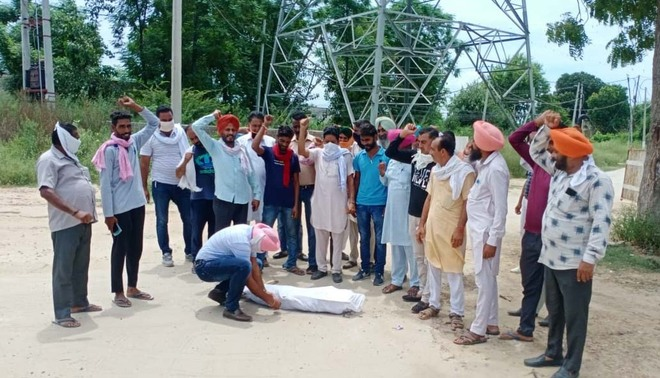 Power employees burn effigies of managements, state government in Ludhiana