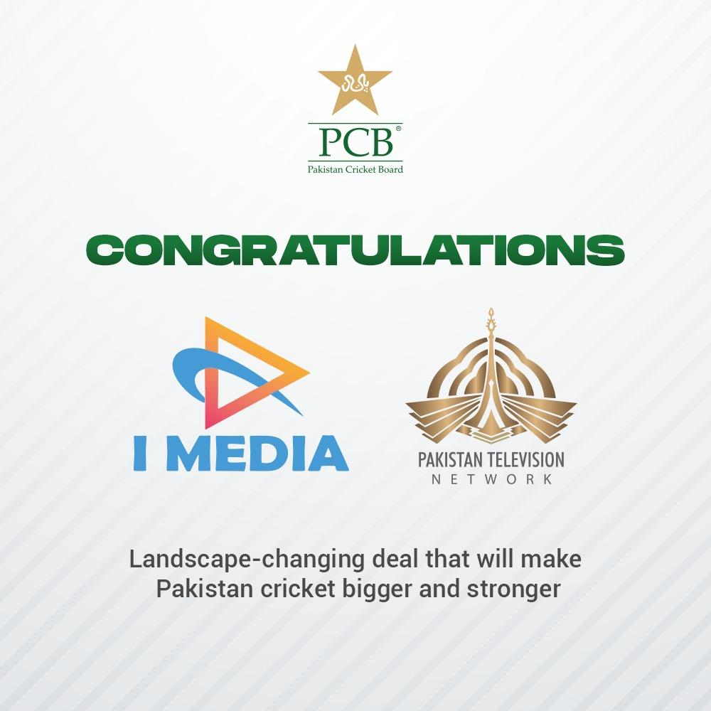 PCB signs 3-year broadcast deal worth USD 200m with PTV Sports