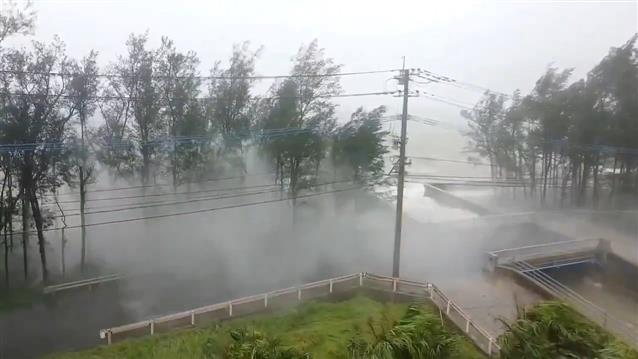 Typhoon Haishen unleashes rain, strong winds in south Japan
