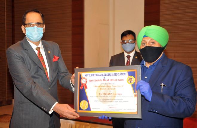 Taj Swarna bags best sanitised hotel tag