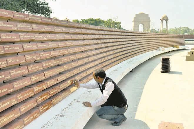 Galwan martyrs' names put up at war memorial