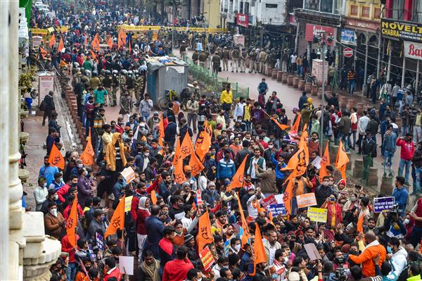 Vishwa Hindu Parishad, Bajrang Dal workers detained during protest over temple demolition