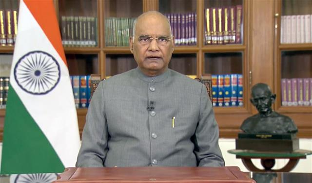 President backs farm laws; salutes farmers, jawans, scientists