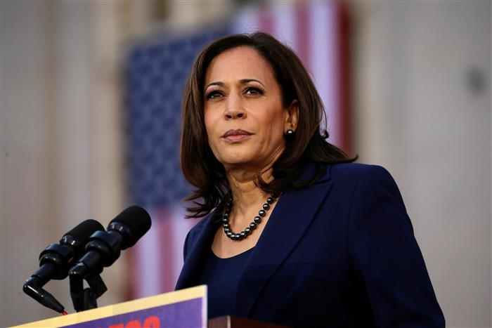 Controversy erupts over Kamala Harris's first Vogue cover pictures