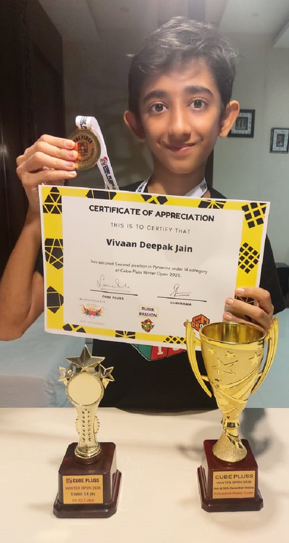 BHIS Malad students win laurels at International Speedcubing Tournament
