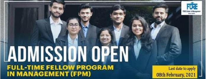 Full-Time Fellow Programme in Management (FPM) 2021-22