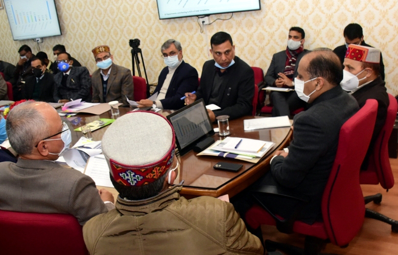 Solve public problems on priority, Himachal CM tells officers