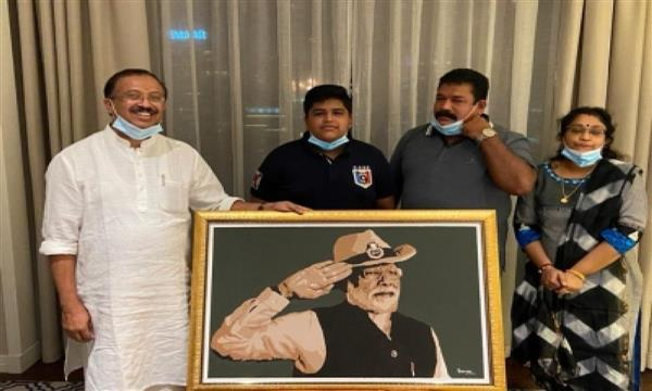 14-yr-old Dubai boy makes special portrait of Modi