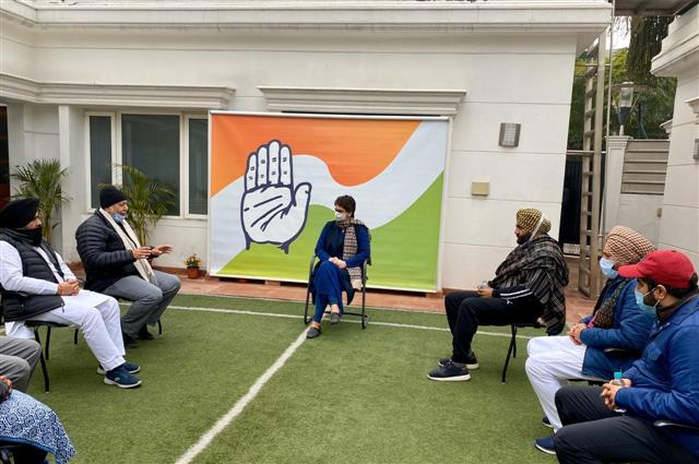 Will not withdraw from fight against farm laws, Priyanka tells Punjab Congress MPs