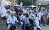 AAP holds motorbike rallies in Punjab to mobilise people for Jan 26 tractor parade of farmers