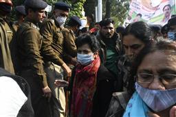 Congress march to Haryana Raj Bhawan in support of farmers stopped in Chandigarh; Selja, Hooda taken into custody
