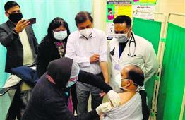 Covid vaccine administered at 77 sites